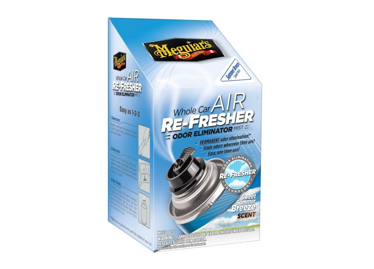 """Meguiar's Air Re-Fresher Odor Eliminator - Summer Breeze Scent - čistič klimatizace + pohlcovač pachů + osvěžovač vzduchu, vůně """"Summer Breeze"""", 71 g"""