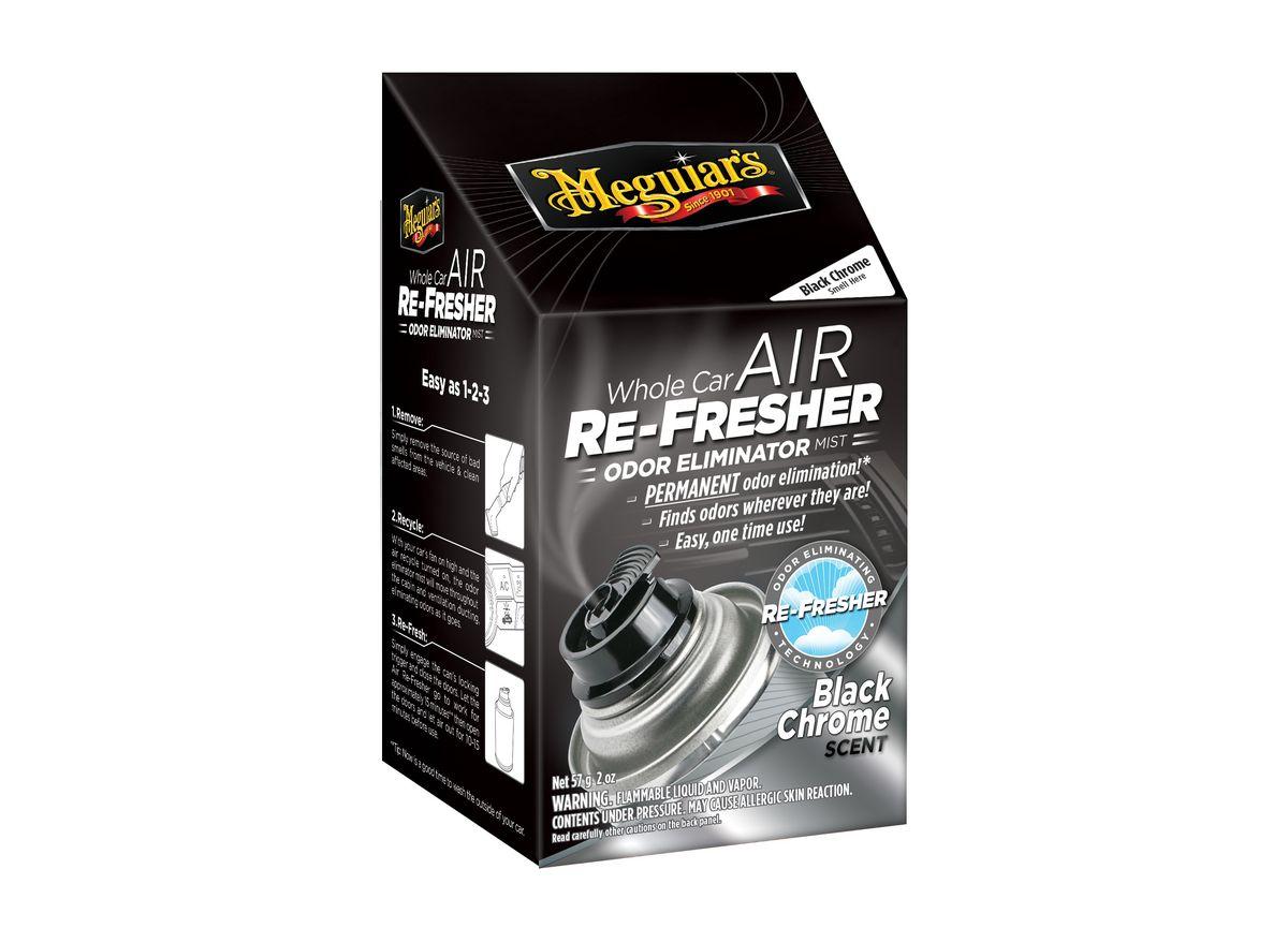 """Meguiar's Air Re-Fresher Odor Eliminator - Black Chrome Scent - čistič klimatizace + pohlcovač pachů + osvěžovač vzduchu, vůně """"Black Chrome"""", 71 g"""