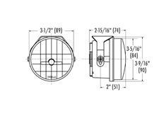 Přídavné mlhové kulaté LED světlomety PIAA LP530 o průměru 89mm