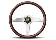 """MOMO Heritage Line dřevěný volant """"Grand Prix"""" 350 mm se stříbrným středem"""