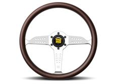 """MOMO Heritage Line dřevěný volant """"Super Grand Prix"""" 350 mm s chromovým středem"""