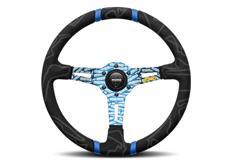 MOMO sportovní semišový volant Ultra 350 mm modrý