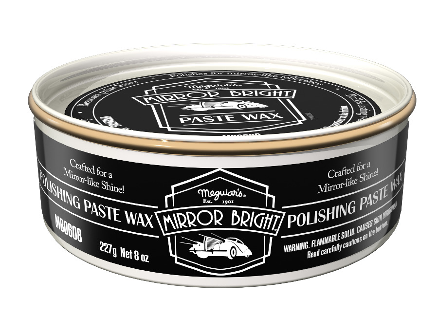 Meguiar's Mirror Bright Polishing Paste Wax - tuhá leštěnka s voskem, 227 g
