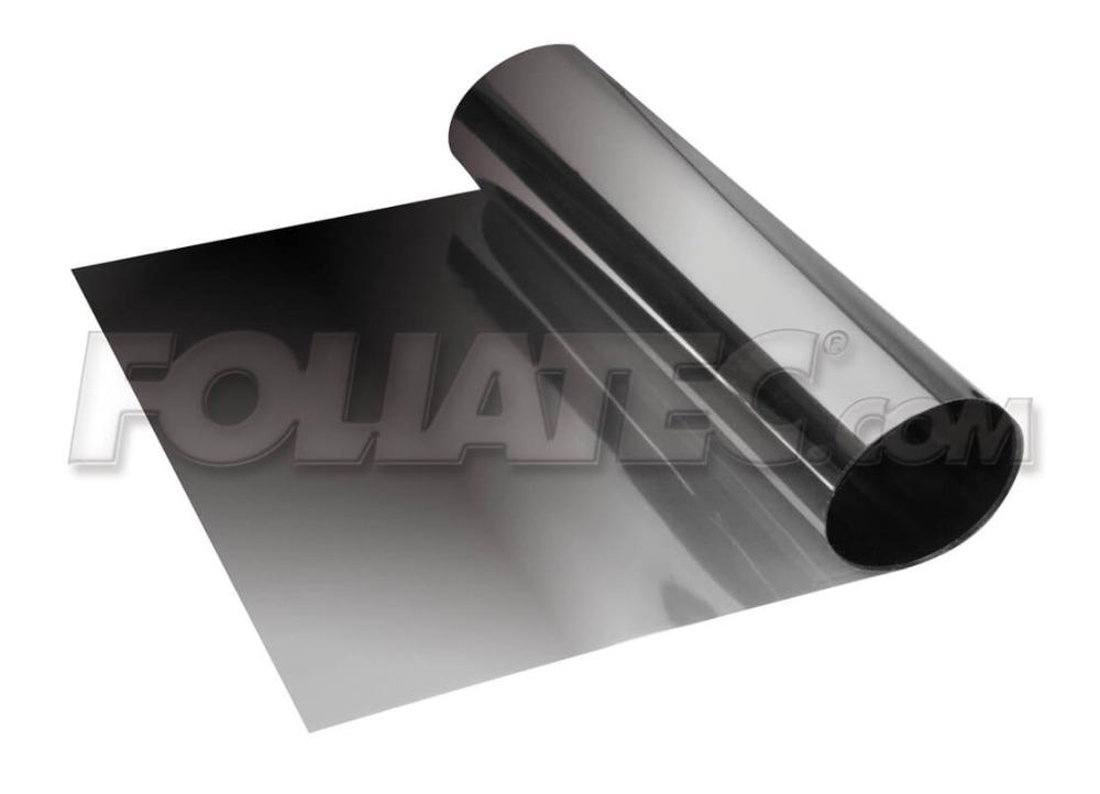 Metalizovaný přechodový stínící pruh na přední okno Foliatec 15x152cm černý transparentní