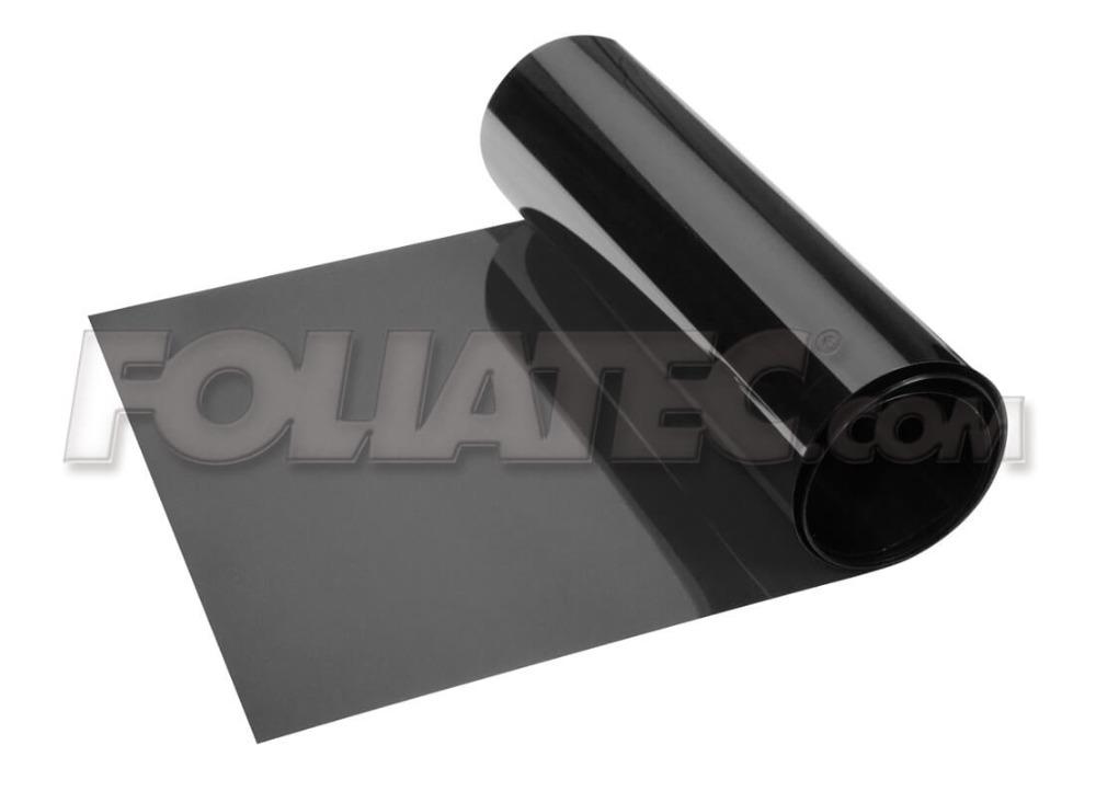 Metalizovaný stínící pruh na přední okno Foliatec 15x152cm - černý transparentní