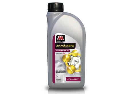 Závodní plně syntetický motorový olej Millers Oils NANODRIVE - CFS 0w-30 NT 1l