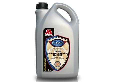 Plně syntetický motorový olej Millers Oils NANODRIVE Classic High Performance 20w-50 NT 5l