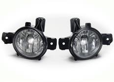 Mlhové světlomety JOM pro BMW řady 1 E81/ E82/ E83/ E84/ E87/ E88, čiré chromové