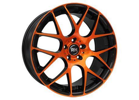 Alu kolo RH NBU Race, 8,5x18 5x112 ET35, černé s oranžovou čelní plochou
