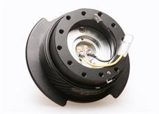 NRG odpojovač volantu Generation 2.5 - černý s carbonovým kroužkem