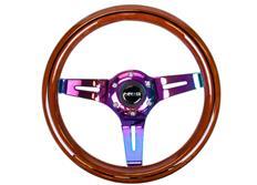 NRG sportovní volant Colored wood s průměrem 310mm, dřevěný v několika barevných variantách