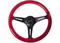 NRG sportovní volant Colored wood s průměrem 350mm, dřevěný s černým středem, v několika barevných variantách