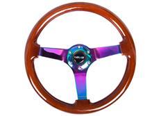 NRG sportovní volant Deep dish 350mm s NeoChromovým středem,ve dvou barevných provedeních