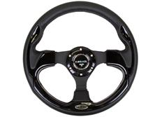 NRG sportovní volant New Age s průměrem 320mm, s různě barevnými vložkami, kožený