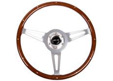 NRG sportovní volant Vintage Wood s průměrem 365 mm, dřevo s leštěným středem