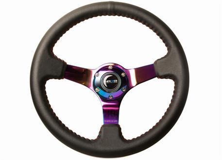 NRG sportovní volant Deep dish 350mm v kombinaci kůže / Neochrome