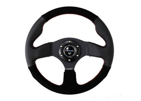 NRG sportovní volant Race 320mm v kombinaci kůže / semiš