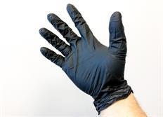 Nitrilové rukavice, černé, nepudrované
