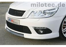 Milotec spoiler pod přední nárazník, Škoda Octavia II RS Facelift
