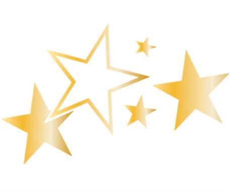 Dekorační polep FOLIATEC 'Stars' - zlatý