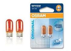 Osram original s oranžovou baňkou 5W, 2ks (pár)