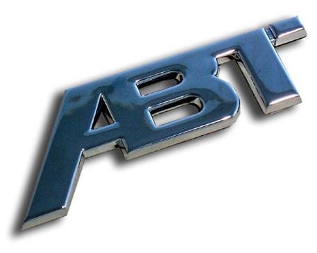 ABT Sportsline - chromové / černé logo větší 115x45mm