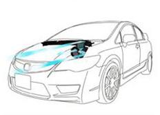 GruppeM carbonové sání pro Honda Civic FD2
