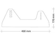 Alu konzole Sandtler s práškovou vrstvou pro sedačky s bočním uchycením, tloušťka 5mm, typ 2