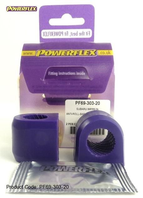Silentbloky Powerflex Subaru Forester SF (97-02) - uložení předního stabilizátoru-průměr 20mm, hladký