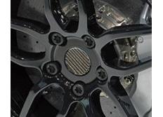 Středové pokličky, sada 4ks o průměru 60mm - pravý carbon - Real Carbon