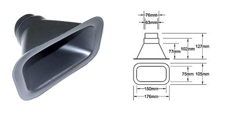 Nasávání pro hadici o průměru 63mm, typ B