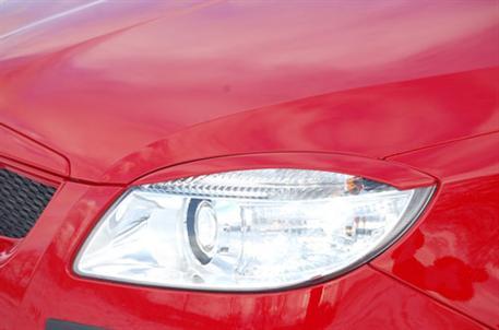 Kryty světlometů Milotec (mračítka) - ABS černý, Škoda Roomster / Fabia II
