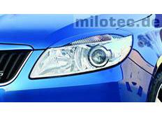 Kryty světlometů Milotec (mračítka) - ABS černý, Škoda Fabia II Facelift / Roomster Facelift