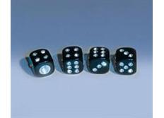 Čepičky ventilků Foliatec - krystalové kostky černé
