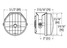Přídavné dálkové kulaté LED světlomety PIAA LP530 o průměru 89mm