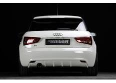 Rieger tuning spoiler pod originální zadní nárazník pro Audi A1 (8X) 3/5-dvéř. (Sportback), r.v. od 08/10 - 12/14