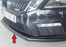 Rieger spoiler pod originální přední nárazník pro Škoda Octavia III (5E) RS Lim./Kombi, Facelift, r.v. od 02/17-