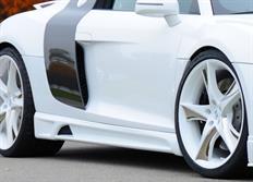 Rieger tuning boční práh s prolisem a výřezem pro Audi R8 (42) Coupé/Spyder, r.v. od 04/07-