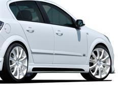 Rieger tuning boční práh s prolisem a výřezy pro Opel Astra H 5-dvéř. Hatchback/Notchback, r.v. od 03/2004-