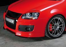 """Rieger tuning lipa """"bended version"""" pod přední spoiler Rieger č. 59420 pro Volkswagen Eos (1F) Cabrio a Volkswagen Golf V R32"""