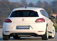 Rieger tuning převlek originálního zadního nárazníku pro Volkswagen Scirocco III (13) 2-dvéř. před faceliftem, r.v. od 08/08-04/14