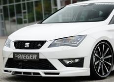 Rieger tuning spoiler pod originální přední nárazník pro Seat Leon Cupra (5F) a Seat Leon FR (5F) 3/5-dvéř. SC/ST/Kombi, před faceliftem, r.v. od 01/13-
