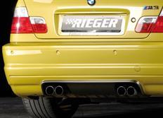 "Rieger tuning spoiler pod originální zadní nárazník ""CS-Look"" pro BMW řady 3 E46 M3 Coupé/Cabrio, r.v. od 06/00-"