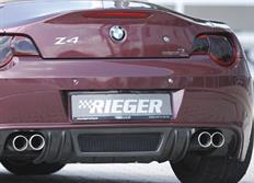 Rieger tuning spoiler pod originální zadní nárazník pro BMW Z4 (E85) Roadster, před faceliftem, r.v. od 02/03-12/05