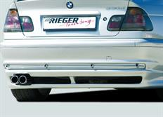 Rieger tuning spoiler pod originální zadní nárazník pro BMW řady 3 E46 Sedan, před faceliftem, r.v. od 02/98-12/01
