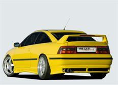 Rieger tuning spoiler pod originální zadní nárazník pro Opel Calibra 3-dvéř. r.v. od 03/90-