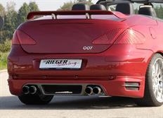 """Rieger tuning spoiler pod originální zadní nárazník s dvojitou koncovkou na obou stranách """"Difuzor-look"""" pro Peugeot 307 Cabrio CC, r.v. od 04/01-"""