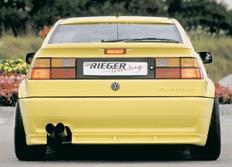 Rieger tuning spoiler pod originální zadní nárazník vozu Volkswagen Corrado (53I) Coupé, r.v. od 88-95