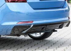 """Rieger tuning vložka zadního nárazníku """"difuzor"""" pro originální koncovku výfuku pro Škoda Rapid (NH) Spaceback, r.v. od 07/12-"""