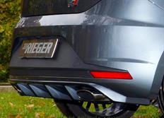Rieger tuning vložka zadního nárazníku pro Seat Leon Cupra (5F) 3/5-dvéř. (SC), před faceliftem, r.v. od 03/14-12/16
